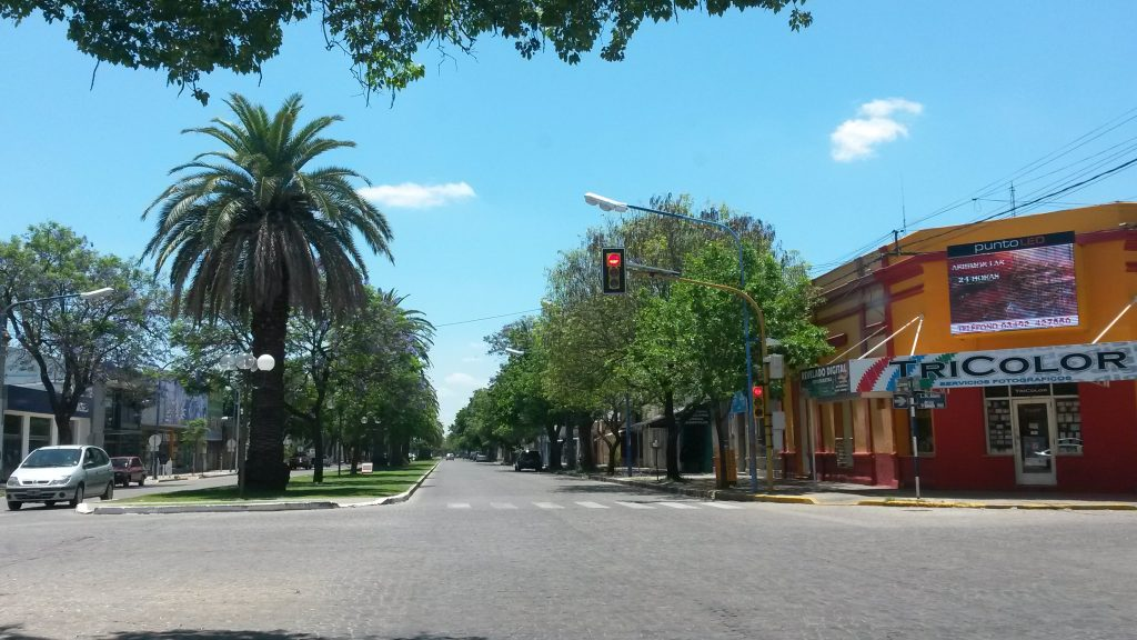 Boulevard G. Lehmann de la ciudad de Rafaela