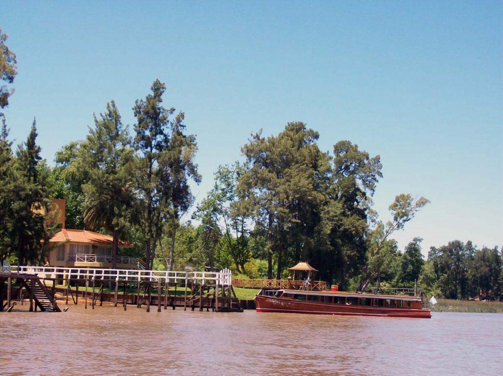 Paisaje del delta de Tigre