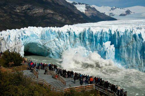 Se viene el mayor rompimiento del siglo del Glaciar Perito Moreno