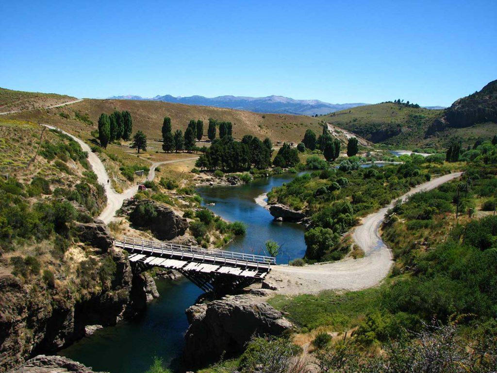 Puente Verde, sobre el río Ñirihuau, San Carlos de Bariloche