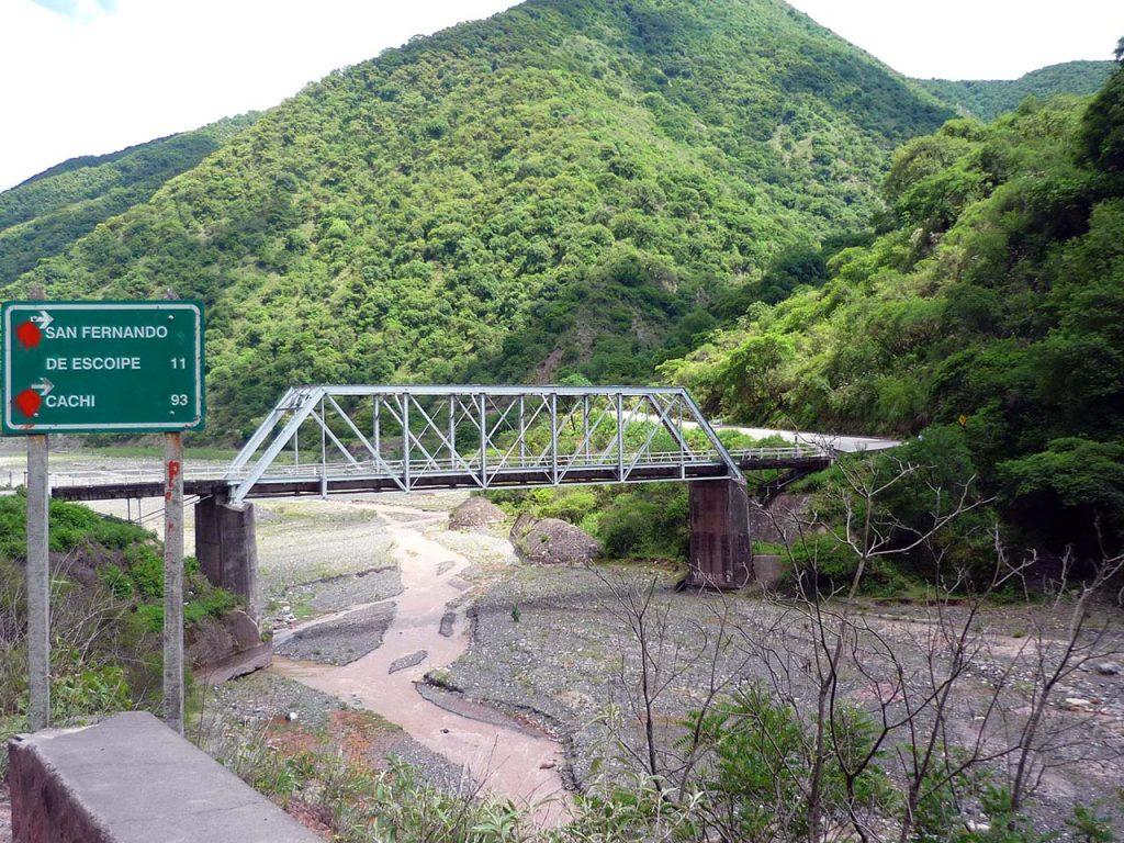 Puente en la Quebrada de Escoipe, Salta