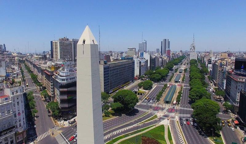 Avenida 9 de julio, ciudad de Buenos Aires, Argentina