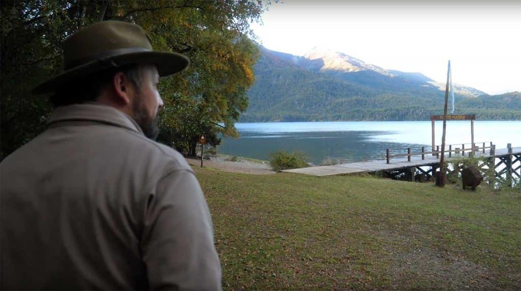 Martín Pereyra, guardaparque del Parque Nacional Lanin